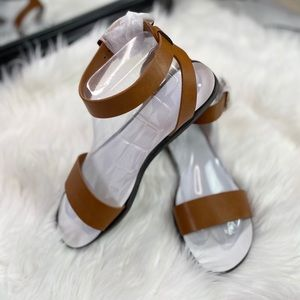 Shoes - Brown sandals with ankle strap
